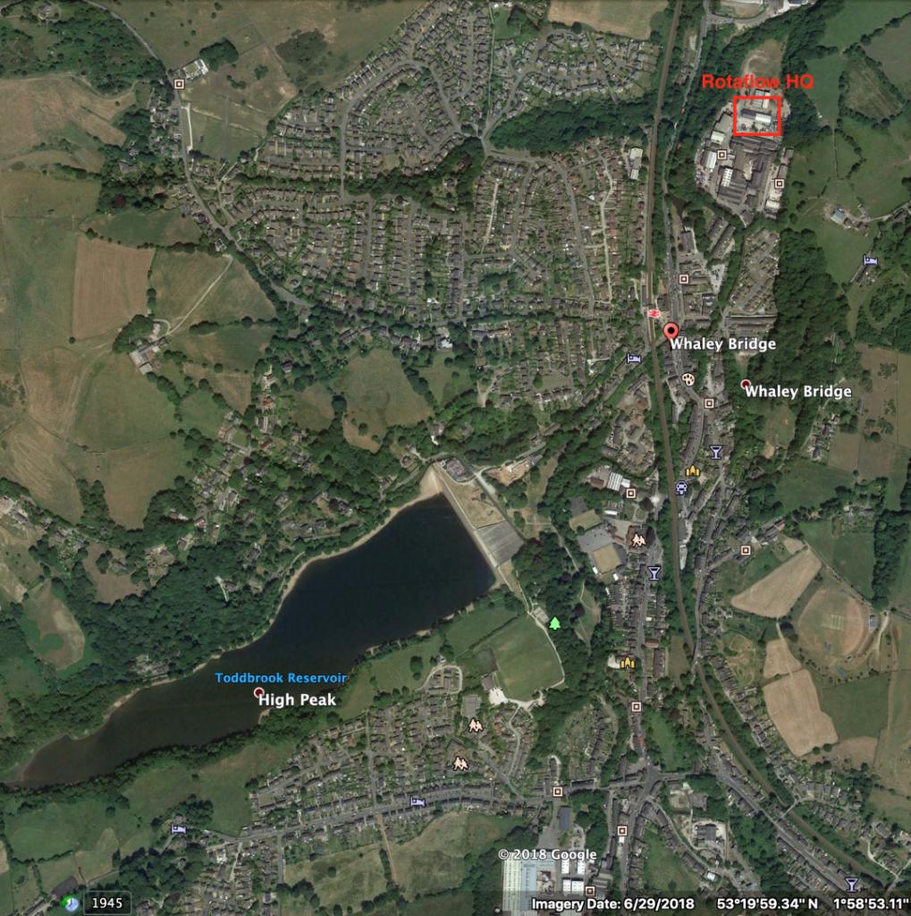 Toddbrook reservoir repair, whaley bridge, rotaflow hq