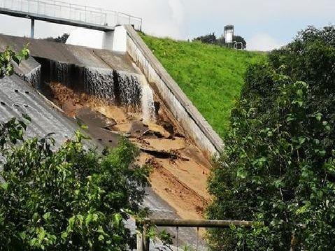 Toddbrook reservoir dam wall damage