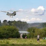 Toddbrook reservoir repair, chinook helicopter